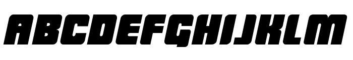LowRider BB Italic Font LOWERCASE