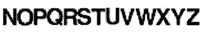 LowerResolution Font UPPERCASE