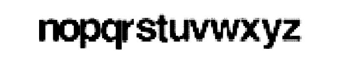 LowerResolution Font LOWERCASE