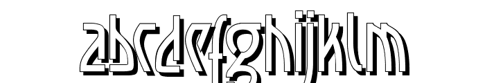 Loxembourg 1910 Shadow Font LOWERCASE