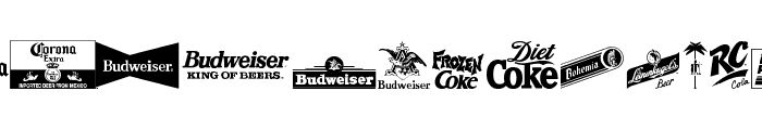 logos and logos tfb Font LOWERCASE