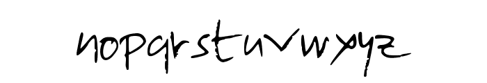 lolo2 Font LOWERCASE