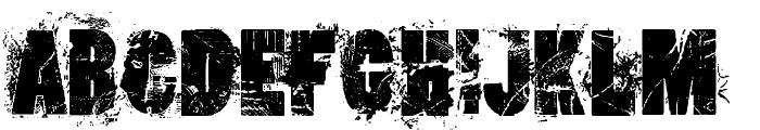 loserboi grunge Font UPPERCASE
