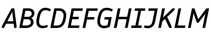 Logical Book Italic Font UPPERCASE