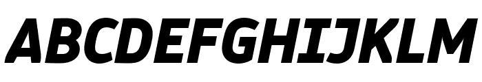 Logical Heavy Italic Font UPPERCASE