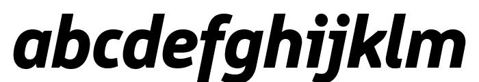 Logical Heavy Italic Font LOWERCASE
