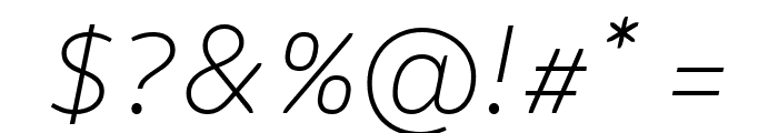 Logical Thin Italic Font OTHER CHARS