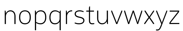 Logical Thin Font LOWERCASE