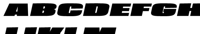 Loft Mammoth Italic Font UPPERCASE