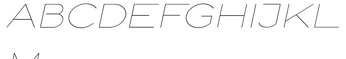 Logo Sans Light Italic Font UPPERCASE