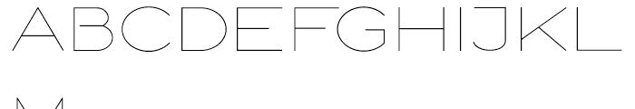 Logo Sans Light Font UPPERCASE
