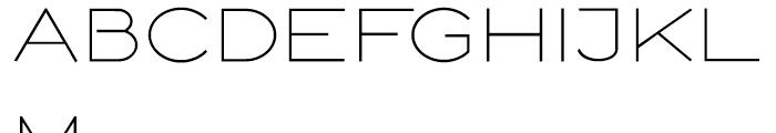 Logo Sans Regular Font UPPERCASE