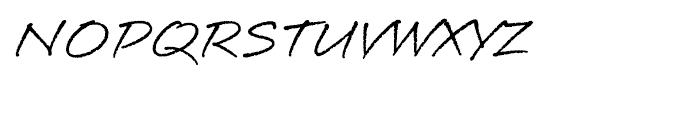 Longhand RegularLP Font UPPERCASE