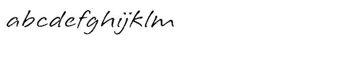 Longhand RegularLP Font LOWERCASE