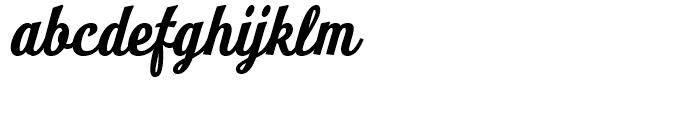 Look Script Bold Font LOWERCASE