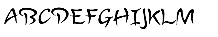 Lourdes Regular Font UPPERCASE