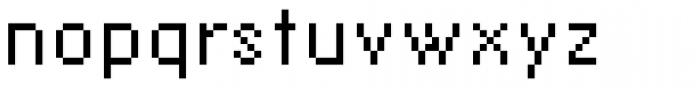 Lo-Res 12 Regular Font LOWERCASE