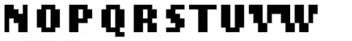 Lo-Res 9 Narrow Bold Font UPPERCASE