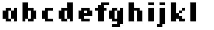 Lo-Res 9 Narrow Bold Font LOWERCASE