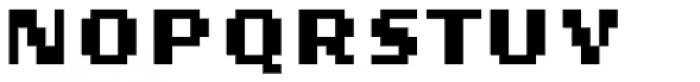Lo-Res 9 Wide Bold Alt Font UPPERCASE