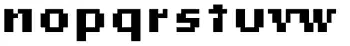 Lo-Res 9 Wide Bold Alt Font LOWERCASE