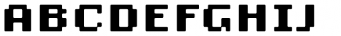 Lo-Res 9 Wide Bold Plus Font UPPERCASE
