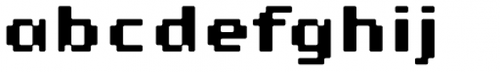 Lo-Res 9 Wide Bold Plus Font LOWERCASE