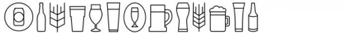Local Brewery Collection Icons Font UPPERCASE