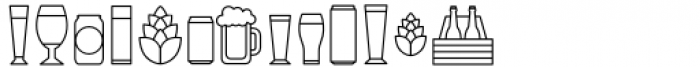 Local Brewery Collection Icons Font LOWERCASE