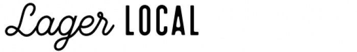 Local Brewery Collection Words Font LOWERCASE