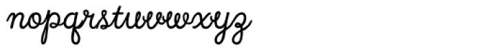 Local Market Script Font LOWERCASE