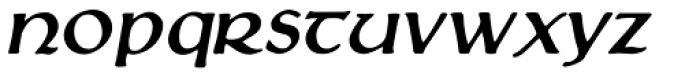 Loch Garman Oblique Font LOWERCASE