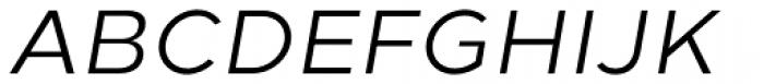 Loew Italic Font UPPERCASE