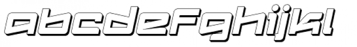 Logofontik Extruded 4F Italic Font LOWERCASE
