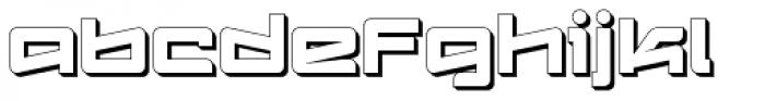Logofontik Extruded 4F Font LOWERCASE