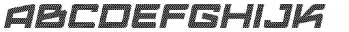 Logofontik Stripes 4F Italic Font UPPERCASE