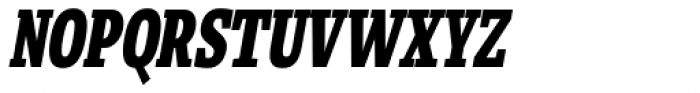 Loka Compressed Extra Bold Oblique Font UPPERCASE
