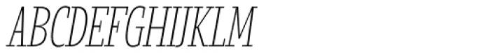 Loka Compressed Extra Light Oblique Font UPPERCASE