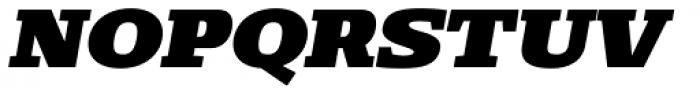 Loka Expanded Black Oblique Font UPPERCASE