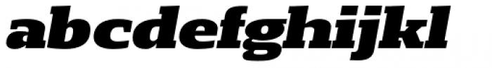 Loka Expanded Black Oblique Font LOWERCASE