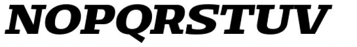 Loka Expanded Bold Italic Font UPPERCASE