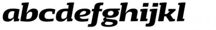 Loka Expanded Bold Italic Font LOWERCASE