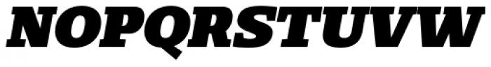 Loka Extended Black Oblique Font UPPERCASE