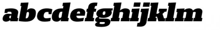 Loka Extended Black Oblique Font LOWERCASE