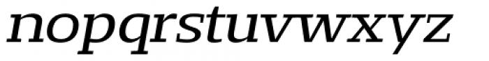 Loka Extended Oblique Font LOWERCASE