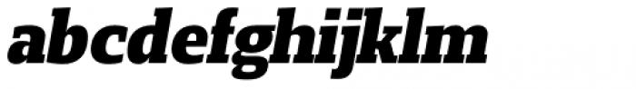 Loka Extra Bold Oblique Font LOWERCASE
