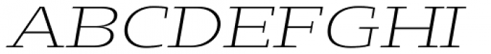 Loka Ultra Expanded Extra Light Oblique Font UPPERCASE