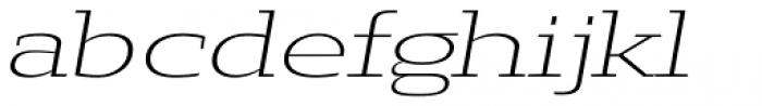 Loka Ultra Expanded Extra Light Oblique Font LOWERCASE