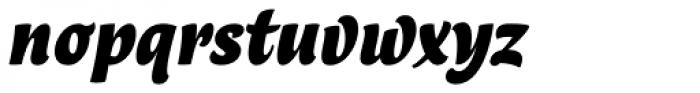 Lokal Script 22 Bold Italic Font LOWERCASE