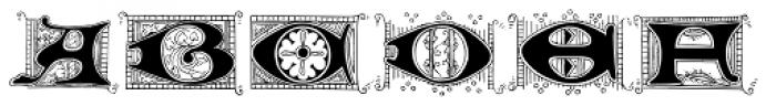 Lombardia Illuminata Font LOWERCASE